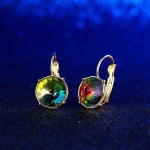 Colorful Crystal Zircon Earrings